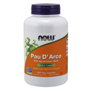 Pau DArco (Lapacho) 500 mg/250 kaps. (Now Foods)
