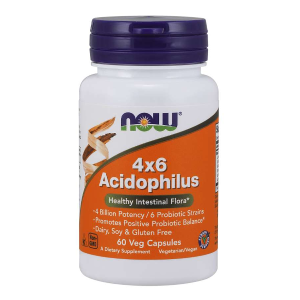 Acidophilus 4x6 (Now Foods) 60 kaps.