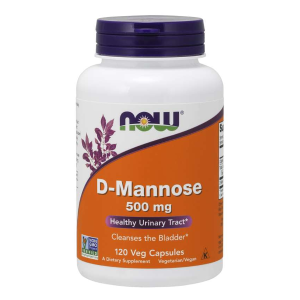 D-mannoza 500 mg/120 kaps. (Now Foods)