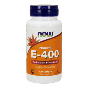 Witamina E-400 D-Alpha Tocopheryl 100 kaps. (Now Foods)