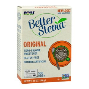 Better Stevia Extract 100 saszetek (Now Foods)