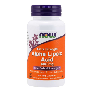 Alpha Lipoic Acid Extra Strenght 600 mg/60 kaps. (Now Foods)
