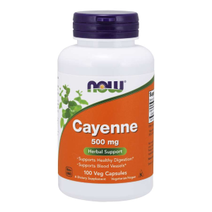 Cayenne 500 mg/100 vcaps. (Now Foods)