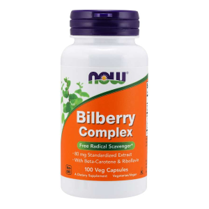 Bilberry Complex 80 mg/100 vcaps.(Now Foods)