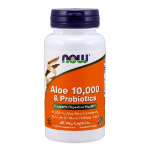 Aloe 10,000 & Probiotics 60 vcaps. (Now Foods)