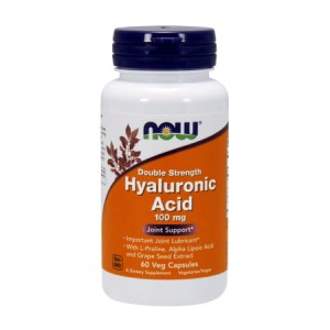 Now Foods Hyaluronic Acid 100 mg 60 Veg Capsules