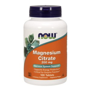 Cytrynian magnezu 200 mg/100 tbl. (Now Foods)