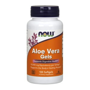 Aloe Vera 10 000 mg/100 Softgls Now Foods