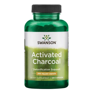 Activated Charcol 260 mg/120 kaps. (Swanson)