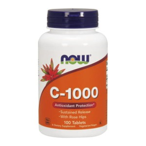 Vitamin C-1000 Sustained Release 100 tabl. (Now Foods)