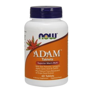 Adam Men's Multiple Vitamin 60 tabl. (Now Foods)