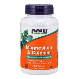 Magnesium & Calcium+D3 100 tabl. (Now Foods)