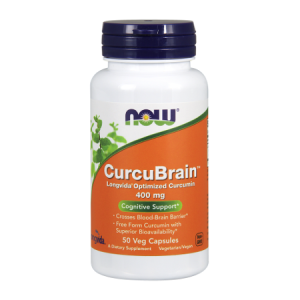 CurcuBrain 400 mg/50 kaps. (Now Foods)