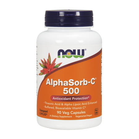 Now Foods AlphaSorb-C™ 500 - 90 Veg Capsules