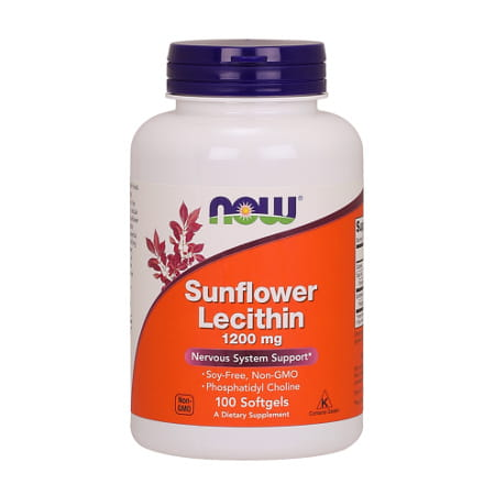 Now Foods Sunflower Lecithin 1200 mg/100 Softgels