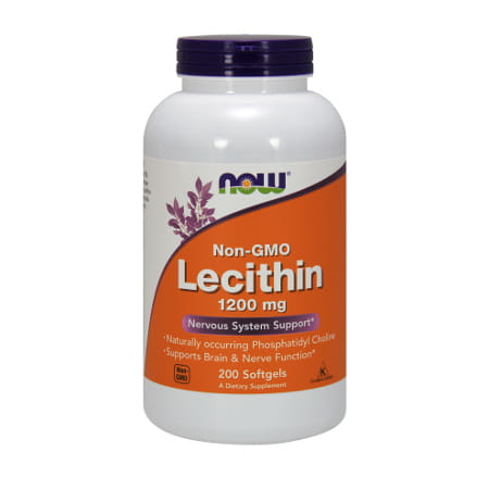 Now Foods Lecithin 1200mg/200 Softgels