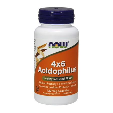 Now Foods Acidophilus 4x6  (120 Capsules)